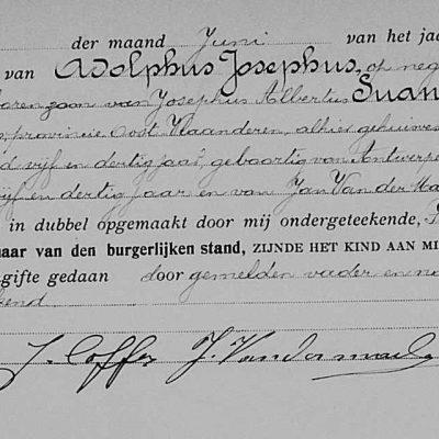 AdolphusJosephusSuanet09061901Antwerpen