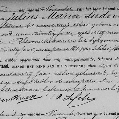 JuliusMariaLudovicusSuanet12111885Antwerpen