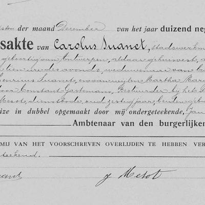 CarolusSuanet24121917Antwerpen