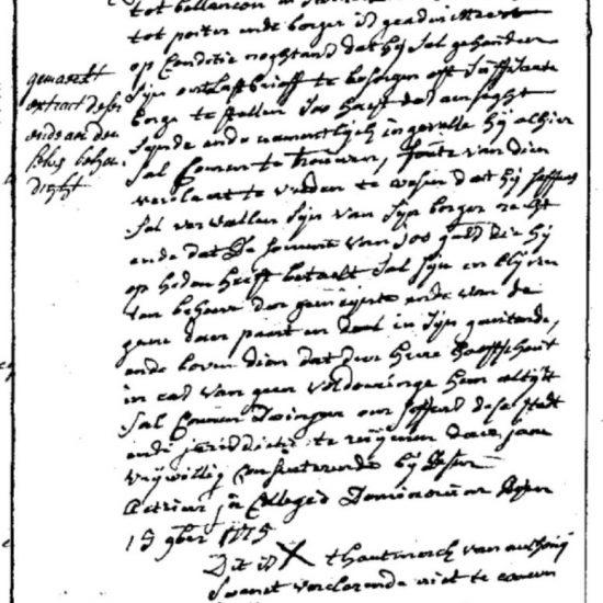 Uittreksel Poortersboek III bladzijde 170